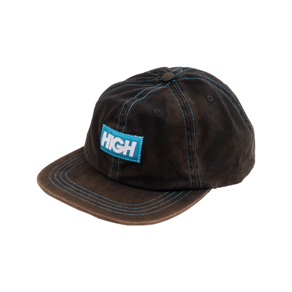 BONÉ HIGH BLEACHED 6 PANEL LOGO BLACK SNAPBACK
