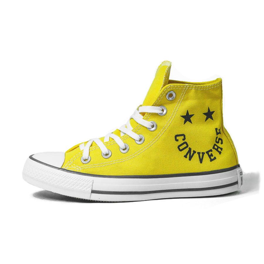 Tênis Converse Chuck Taylor All Star Hi Smile Amarelo