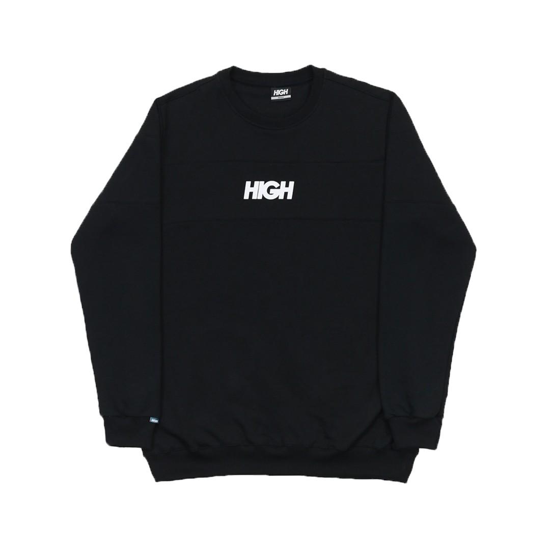 MOLETOM HIGH CREWNECK SWELL BLACK