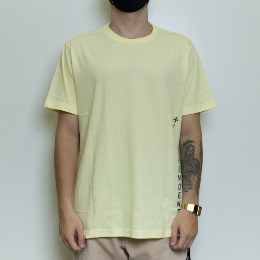 CAMISETA INDEPENDENT VERTICAL AMARELO