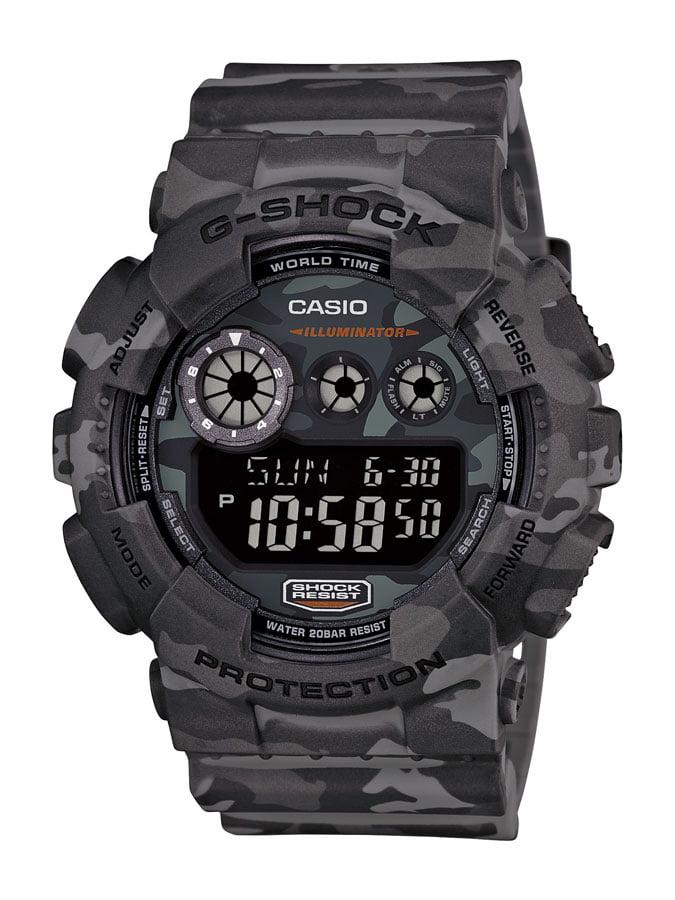 Relógio Casio G-Shock Digital Preto Cinza GD-120CM-8DR