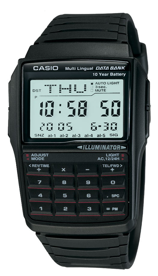 Relógio Casio Vintage Digital Data Bank Calculadora Preto DBC-32-1ADF