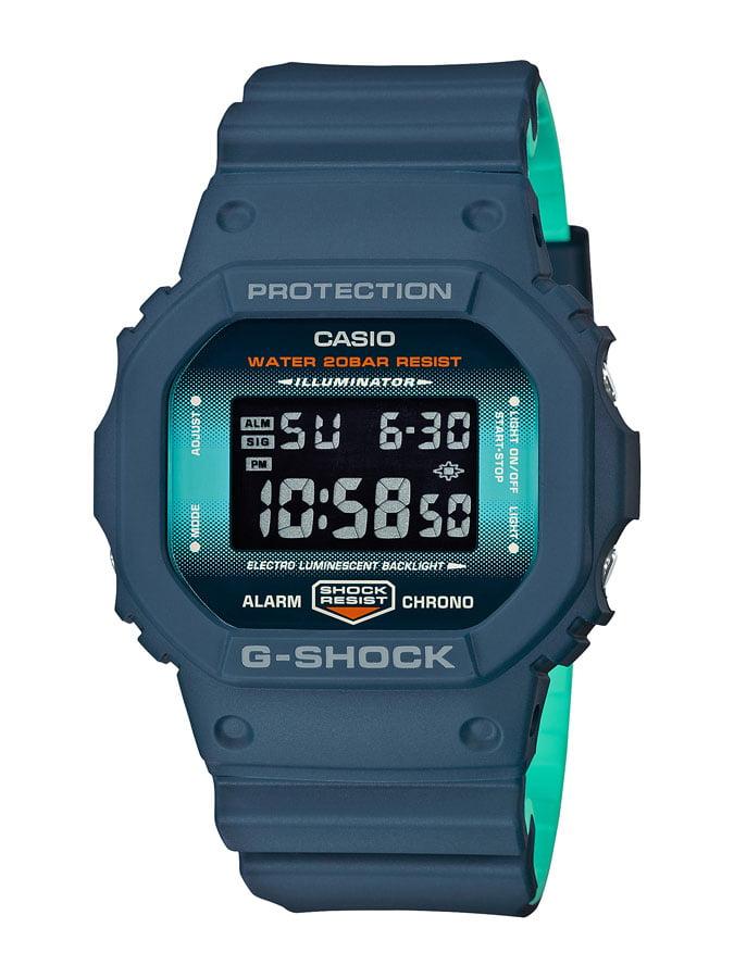 Relógio Casio G-Shock Digital Azul DW-5600CC-2DR