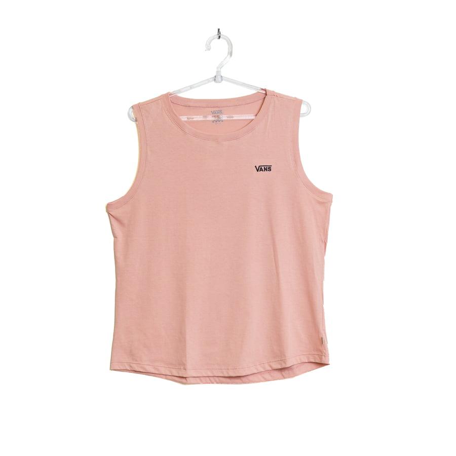 Camiseta Vans Regata Feminina Muscle Rosa