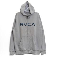 Moletom RVCA Big RVCA Zíper Cinza
