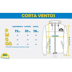 Jaqueta MCD Corta Vento Color Block Azul