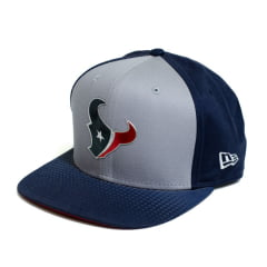 Boné New Era Houston Texans NFL Aba Reta Azul Snapback
