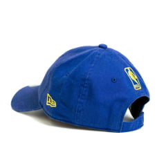 Boné New Era 920 Mini Script Golden State Warriors NBA Aba Curva Azul Strapback