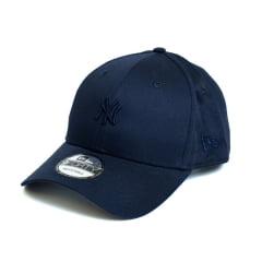 Boné New Era 940 SN Core Mini Logo NY Yankees MLB Aba Curva Azul Snapback