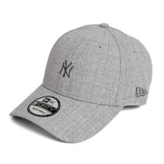 Boné New Era 940 Sn Veranito Mini Logo NY Yankees MLB Aba Curva Cinza Snapback