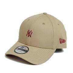 Boné New Era 940 Sn Veranito Mini Logo NY Yankees MLB Aba Curva Khaki Snapback