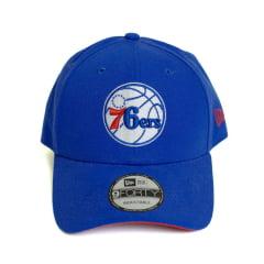 Boné New Era Sn Primary Philadelphia 79ers NBA Aba Curva Azul Snapback