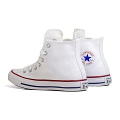 Tênis Converse Chuck Taylor All Star Hi Branco Vermelho
