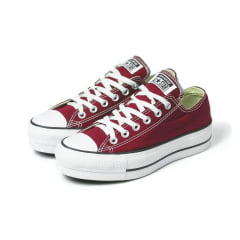 Tênis Converse Chuck Taylor All Star Plataforma Lift Ox Bordô