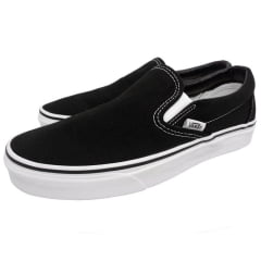 Tênis Vans Classic Slip On Black White