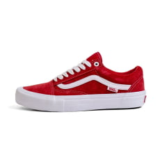 Tênis Vans Old Skool Pro Suede Red White
