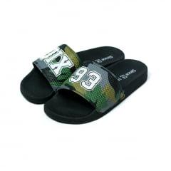 Chinelo Qix Slide Camo Verde