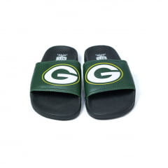 Chinelo NFL Slide Green Bay Packers Preto e Verde