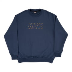 MOLETOM HIGH CREWNECK LOGO COLORED Navy