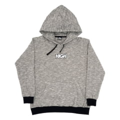 MOLETOM HIGH FLEECE HOODIE HEATER BLACK