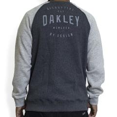 Moletom Oakley Graphic Blocked Crewneck Fleece Cinza