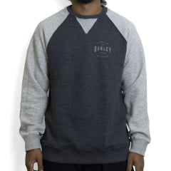Moletom Oakley Graphic Blocked Crewneck Fleece Cinza