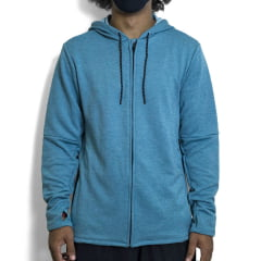 MOLETOM HURLEY OF EXPEDITION DRI FIT CINZA/AZUL