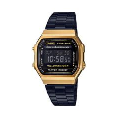 Relógio Casio Vintage Digital Dourado Preto A168WEGB-1BDF