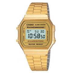 Relógio Casio Vintage Digital Dourado A168WG-9WDF