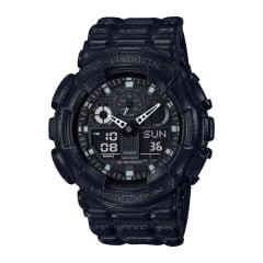 Relógio Casio G-Shock Analógico Digital Preto GA-100BT-1ADR