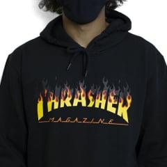 Moletom Thrasher Magazine Fechado BBQ Preto