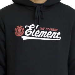 Moletom Element Fechado Signature Preto