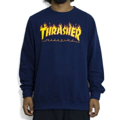 Moletom Thrasher Magazine Flames Careca Fechado