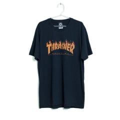 Camiseta Thrasher Magazine Flame Halftone Preta