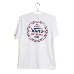 Camiseta Vans Infantil Season Lock Up Checkerboard Branca