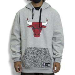 Moletom New Era Full Print Chicago Bulls Cinza