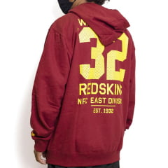Moletom New Era Mesh Number Redskins Vinho