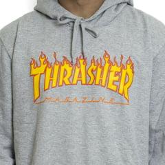 Moletom Thrasher Magazine Flame Cinza